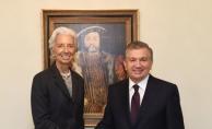 Özbekistan Cumhurbaşkanı Mirziyoyev IMF Başkanı'nı kabul etti