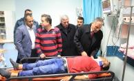 Malatya'da işçileri taşıyan minibüs devrildi: 11 yaralı