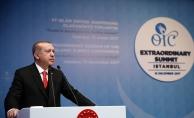 Cumhurbaşkanı Erdoğan: İslam ülkeleri olarak başkenti Kudüs olan egemen ve bağımsız Filistin Devleti talebinden asla vazgeçmeyeceğiz