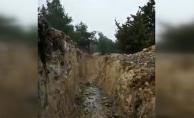 PYD/PKK'nin Afrin'de ele geçen mevzileri görüntülendi