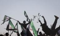 Suriyelilerden Zeytin Dalı Harekatı'na destek gösterisi
