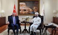 Çavuşoğlu, Diyanet İşleri Başkanı Erbaş'ı ziyaret etti