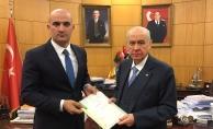 Türkmeneli'nden dönen Olcay Kılavuz şehidin vasiyetiyle ilgili MHP Lideri Bahçeli'ye bilgi verdi