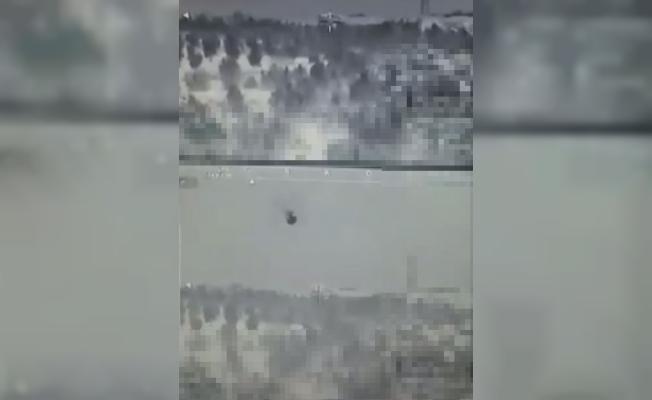 Harekat kapsamında terör örgütlerine ait hedefler, Türk tankları tarafından vuruldu