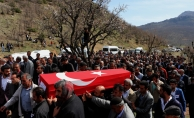 Diyarbakır'da  şehit olan gönüllü köy korucusu Opçin'in cenazesi törenle defnedildi