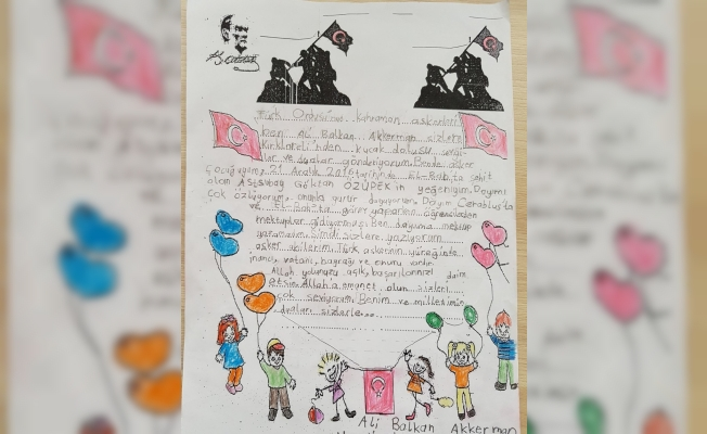 Şehit yeğeninden Mehmetçik'e mektup
