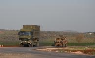 Hatay'a gelen komandolar ve askeri araçlar, sınır birliklerine sevk edildi