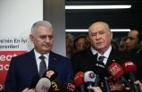 MHP Lideri Bahçeli, Binali Yıldırım'ı ziyaret etti