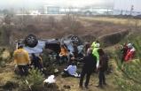 Düzce'de şarampole devrilen minibüsteki 9 kişi yaralandı