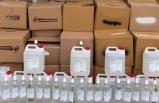 Başkentte izinsiz dezenfektan üreten iş yeri sahibi yakalandı