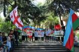 Gürcistan'da Ermenistan'ın saldırıları protesto edildi