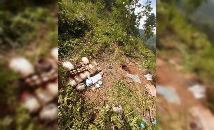 Osmaniye'de PKK'ya ait malzeme ele geçirildi