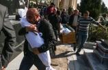 Ermenistan'ın Gence'de füze ile öldürdüğü siviller son yolcuğuna uğurlanıyor