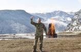Azerbaycan Cumhurbaşkanı İlham Aliyev, Şuşa'da Nevruz ateşini yaktı: