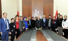 Çölyak Dernekleri Başkanları, MHP Lideri Bahçeli'yi Ziyaret Etti