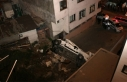 Servis minibüsü 20 metreden uçtu
