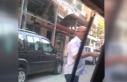 Taksiciden, UBER sürücüsüne sopalı tehdit