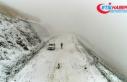 Erzurum'da lapa lapa kar ve tipi
