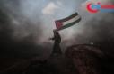 İsrail askerleri Gazze sınırında 77 Filistinliyi...
