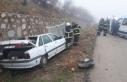 Kırıkkale'de minibüs ve iki otomobil çarpıştı:...