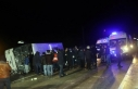 Amasya'da yolcu otobüsü devrildi: 2 ölü,...