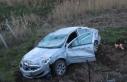 Kahta'da otomobil şarampole devrildi: 3 yaralı