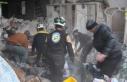 Esed rejiminin İdlib'e topçu saldırılarında...