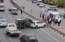 Kadıköy D-100 Karayolu'ndaki kaza trafik yoğunluğuna...