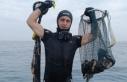 Marmara'da kaçak deniz patlıcanı avına 11...