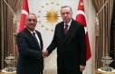 Cumhurbaşkanı Erdoğan DSP Genel Başkanı Aksakal'ı...