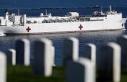 USNS Mercy yüzen hastane gemisi, Los Angeles Limanı'na...