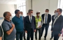 Bakan Kasapoğlu, öğrenci yurdu inşaatında incelemelerde...