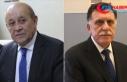 Fransa Dışişleri Bakanı Le Drian ile Libya Başbakanı...