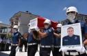 Trafik kazası sonucu şehit olan polis memuru Muğla'da...