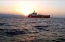 Barbaros Hayreddin Paşa gemisi Doğu Akdeniz'de...