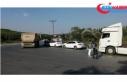 Hafriyat kamyonlarına yönelik yapılan denetimde...