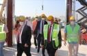 KKTC Başbakanı Tatar, Acil Durum Hastanesi inşaatında...