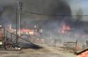 Bolu'da bir evde çıkan yangın çevredeki evlere...