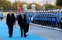 Cumhurbaşkanı Erdoğan, Ersin Tatar'ı resmi tören...
