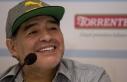 Arjantinli efsane futbolcu Diego Armando Maradona...