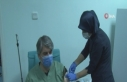 Malatya'da Covid-19 aşısı gönüllü vatandaşlara...