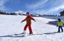 Palandöken'deki kayak keyfi Kovid-19 tedbirleri...