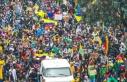 Kolombiya'daki vergi reformu karşıtı gösterilerde...