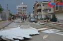 Çanakkale'de kuvvetli fırtına çatıyı yerinden...
