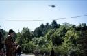 Bursa'da orman yangınlarına karşı helikopter...