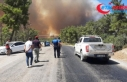 Manavgat'ta çıkan orman yangınına hava ve...