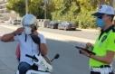 İzmir'de motosikletlilere denetim: 448 sürüye...