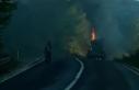 Sülfürik asit yüklü tankerde yangın