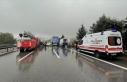 Anadolu Otoyolu'nda zincirleme kaza nedeniyle...