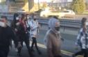 Metrobüs yolunda tehlikeli yolculuk